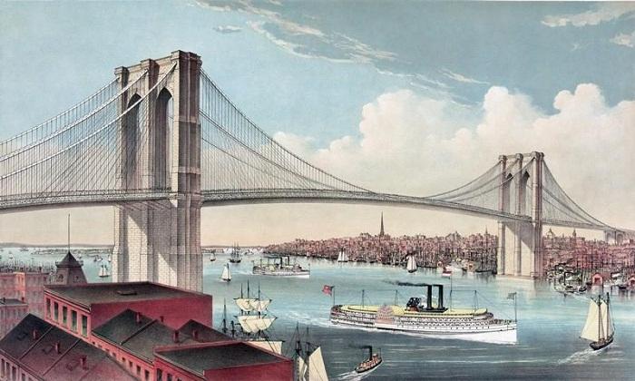Проект моста, предложенный Рёблингом