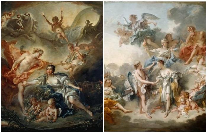 1.Аполлон и пастушка из Иссы. 2.Брак Амура и Психеи