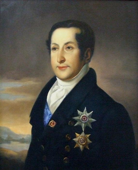 Портрет князя С.М. Голицына. Худ. В. А. Тропинин