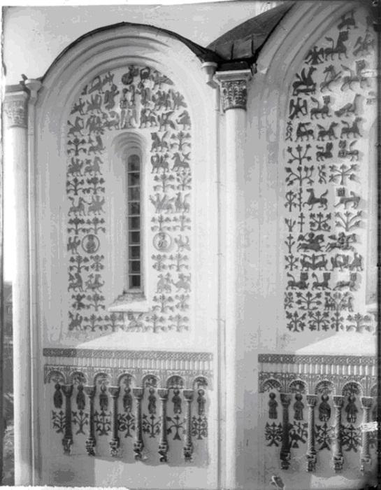 Южный фасад, западная половина, верхний ярус. Коренев В.И. 1883-1897 гг.