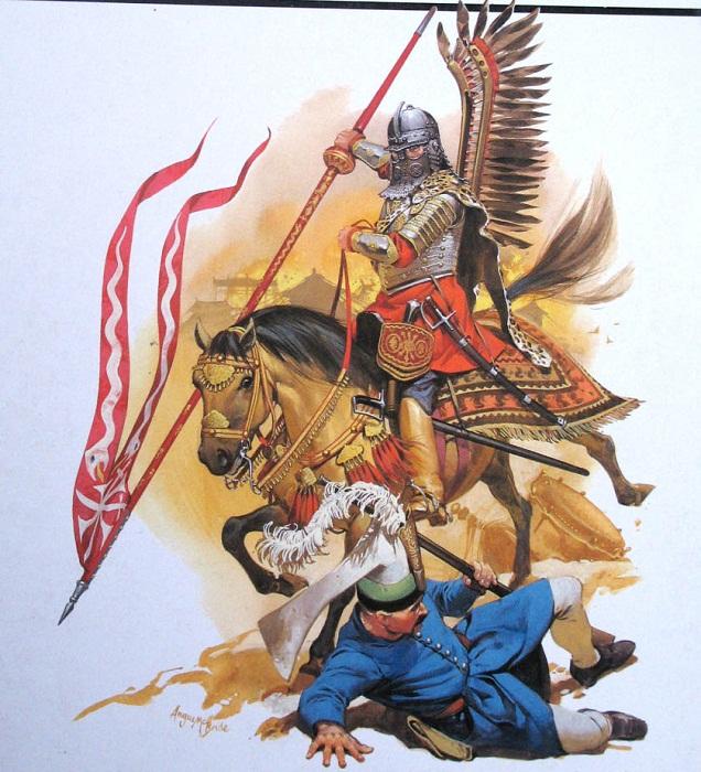 Гусар атакует турецкого янычара