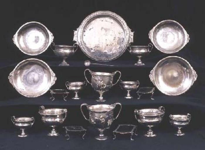 Античное столовое серебро из Муречины,  Национальный археологический музей в Неаполе