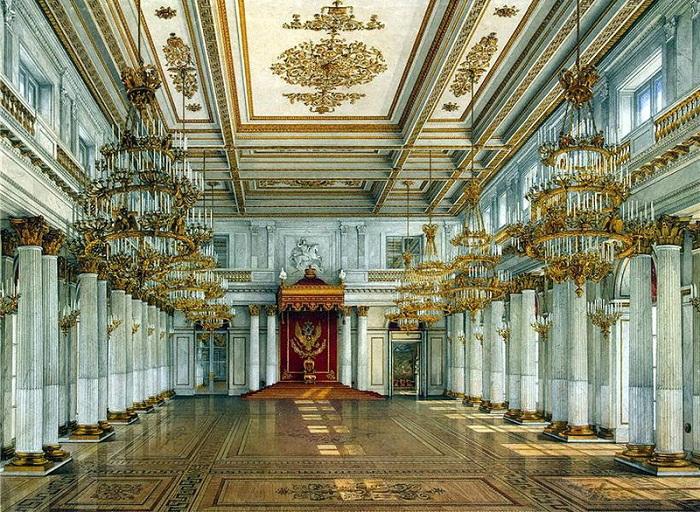 Георгиевский ( Большой Тронный зал). Рис. Э.П.Гау