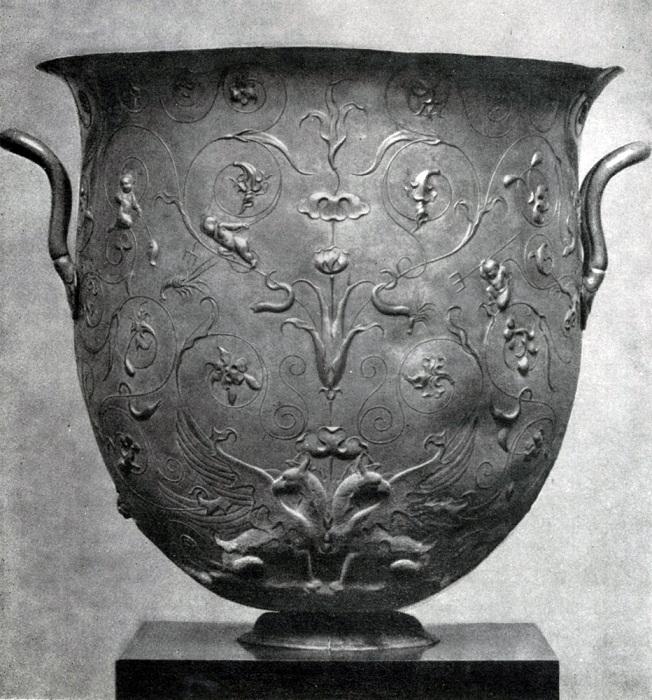 Серебряный сосуд из Гильдесгеймского клада. I в. н.э. Берлин.