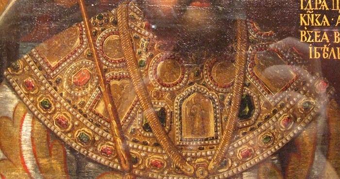 Царь Алексей Михайлович с шитыми бармами-оплечьем (фрагмент)