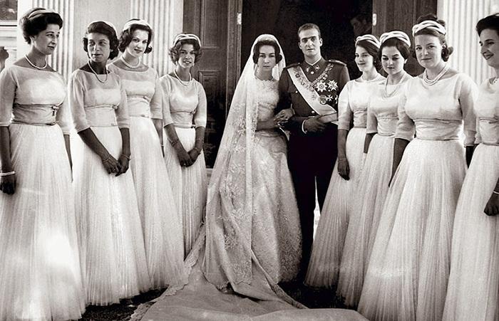 Свадьба принца Хуана Карлоса де Бурбона с принцессой Софией Греческой и Датской