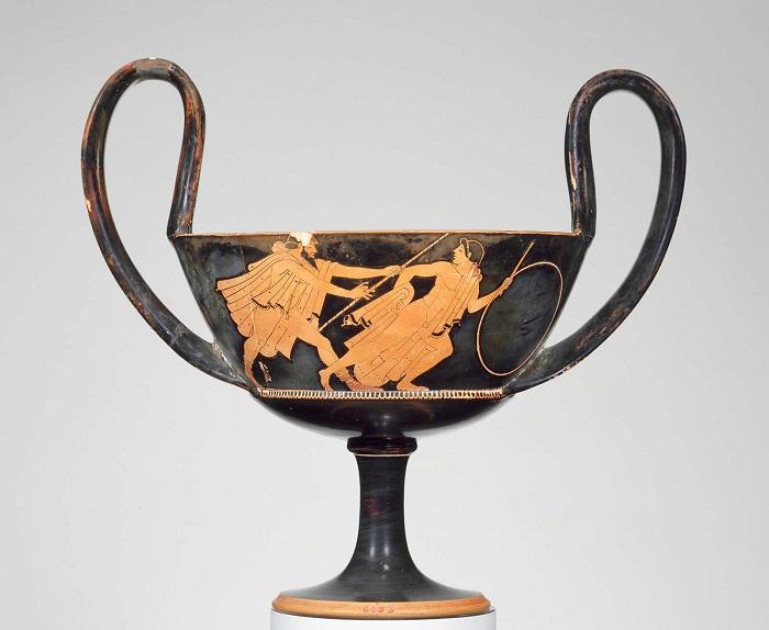 Краснофигурный канфар с изображением Зевса. Мастер Бриг. Начало V в. до н.э. Греция, Аттика, Афины. Музей изобразительных искусств, Бостон