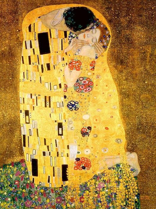 Густав Климт. Поцелуй. 1907-1908