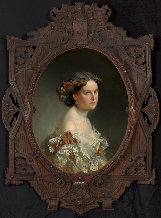 Портрет неизвестной (в авторской раме) Иван Кузьмич Макаров 1860
