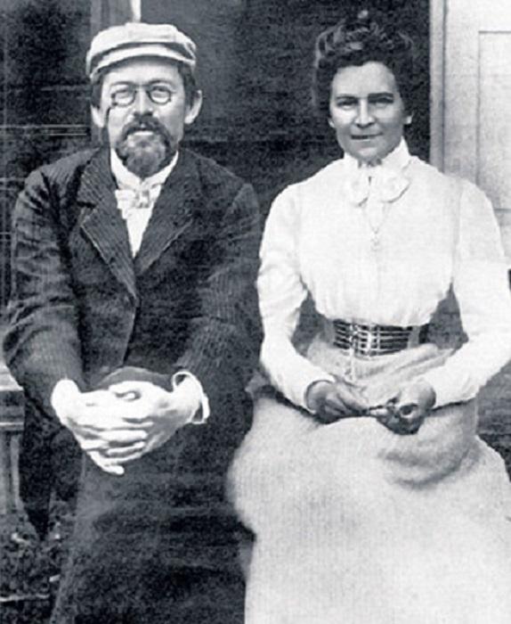 Ольга Книппер и Антон Павлович Чехов