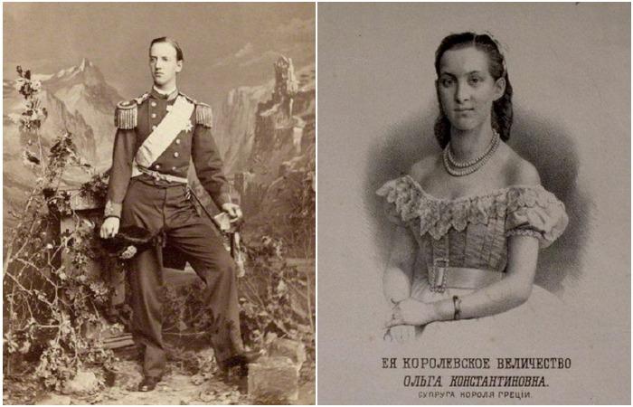 Король Греции Георг I и русская Королева эллинов Ольга Константиновна Романова