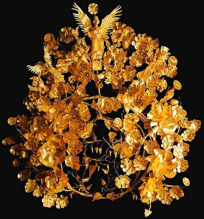 Погребальный венок. Золото. IV в. до н. э.