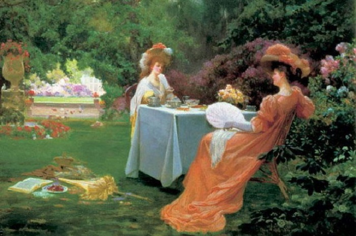 Альфред Оливер. Чаепитие в саду