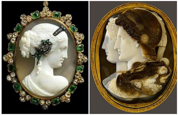 История и утонченная красота античных камей, миниатюрных картин в камне