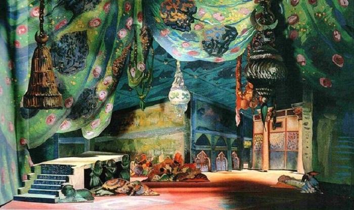 Декорация Бакста к балету И. Стравинского «Жар-птица»