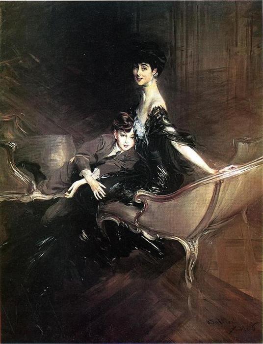 Джованни Болдини. Портрет Консуэло Вандербильт, герцогини Мальборо, с сыном Айвором Спенсер-Черчиллем, 1906, Метрополитен музей, Нью-Йорк, США