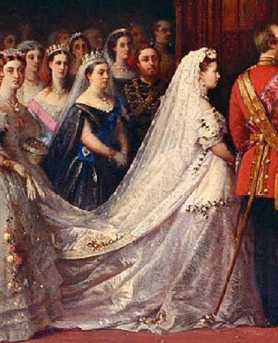 1866 год. Бракосочетание принцессы Елены и принца Кристиана Шлезвинг-Гольштейнского