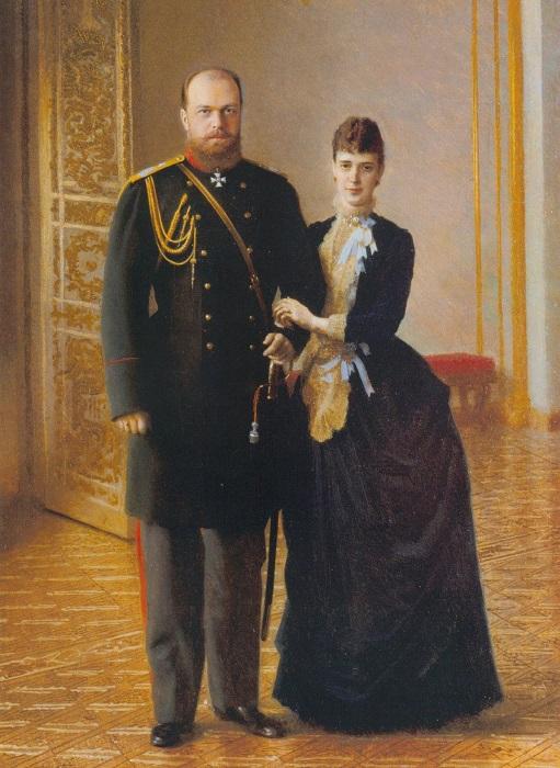 Александр III и российская императрица Мария Фёдоровна