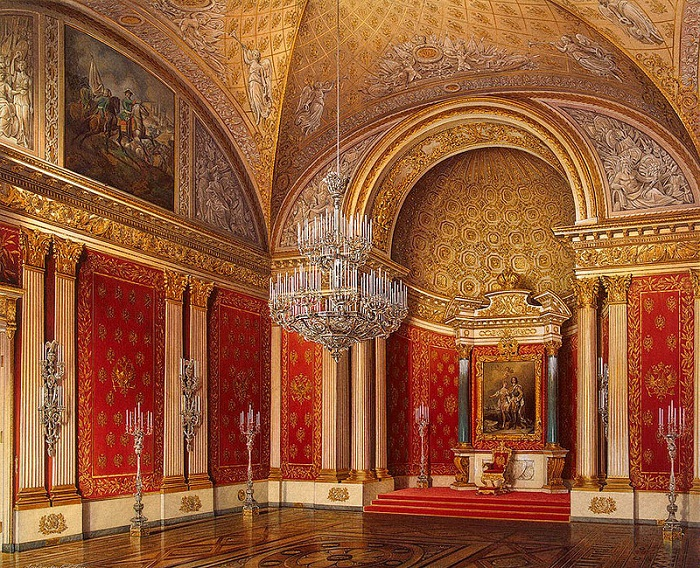 Петровский (Малый тронный зал). Рис. Э.П.Гау