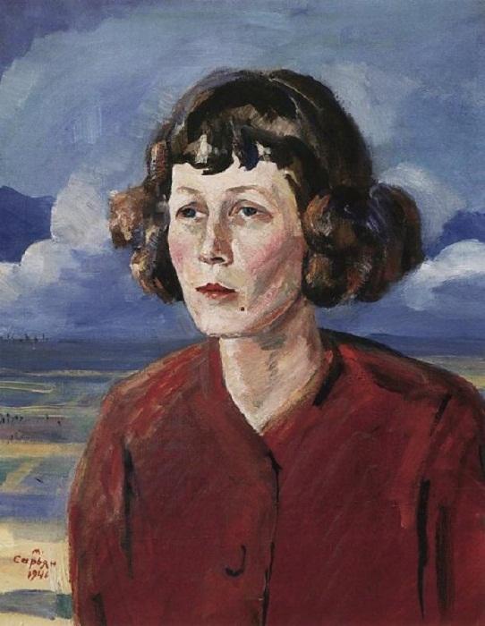 Портрет Марии Сергеевны Петровых. Художник М.С. Сарьян. 1946 год