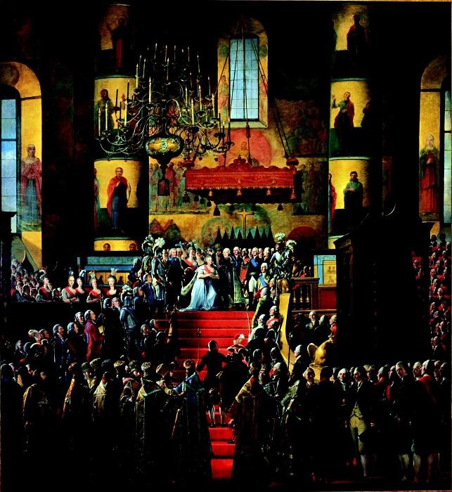 М.Ф.Квадаль. Коронование Павла I и Марии Фёдоровны. 1799