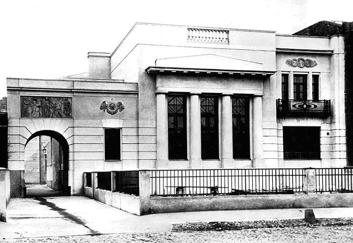 Старинная фотография последнего дома Шехтеля