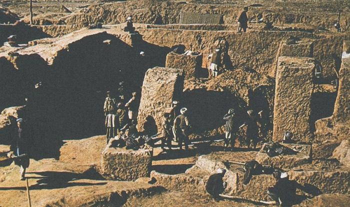 На раскопках в Афганистане
