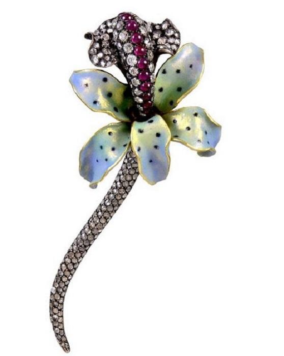 Брошь «Орхидея»
