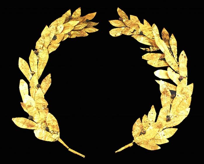 Древнегреческий золотой лавровый венок. Кипр. IV-III вв. до Р.Х