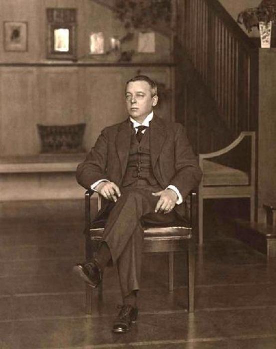 Шехтель в своем последнем доме,1910 г.