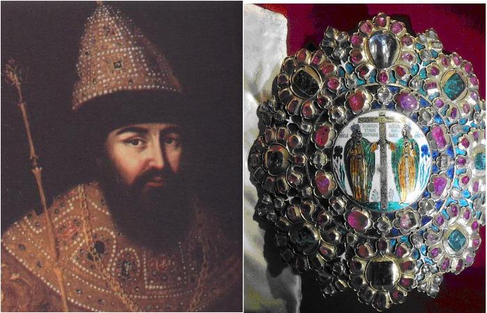 Бармы царя Алексея Михайловича, одна из самых ценных царских регалий