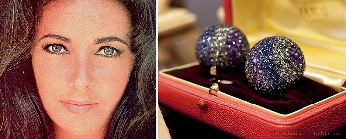 Те самые серьги, передающие едва уловимый оттенок глаз актрисы.