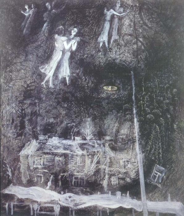 Кадр из мультфильма Сказка сказок. Художник Франческа Ярбусова
