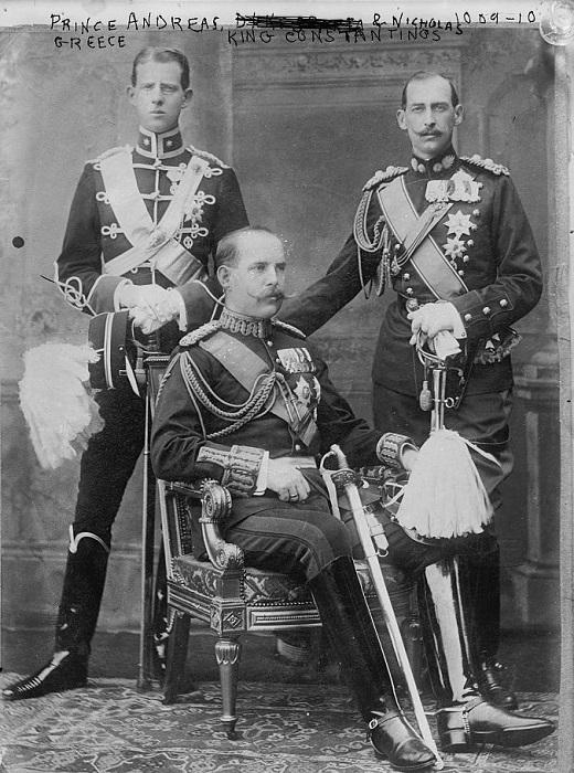 Андрей (слева) вместе с братьями Константином и Николаем