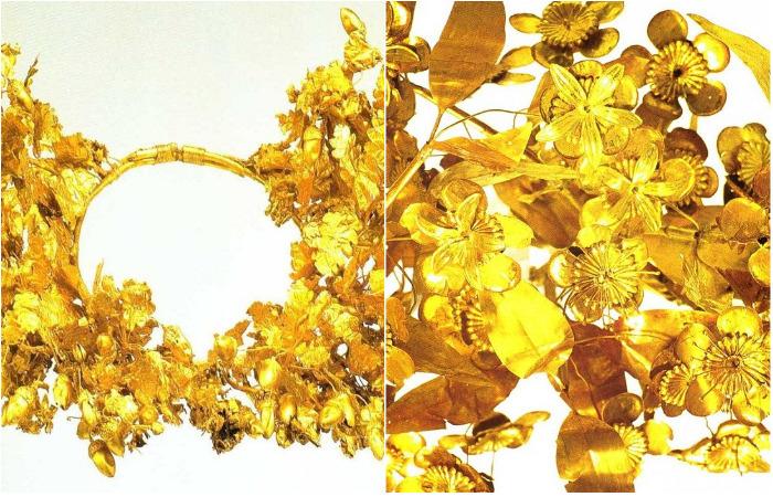 Древнегреческие венки – восхитительные шедевры из золотой фольги