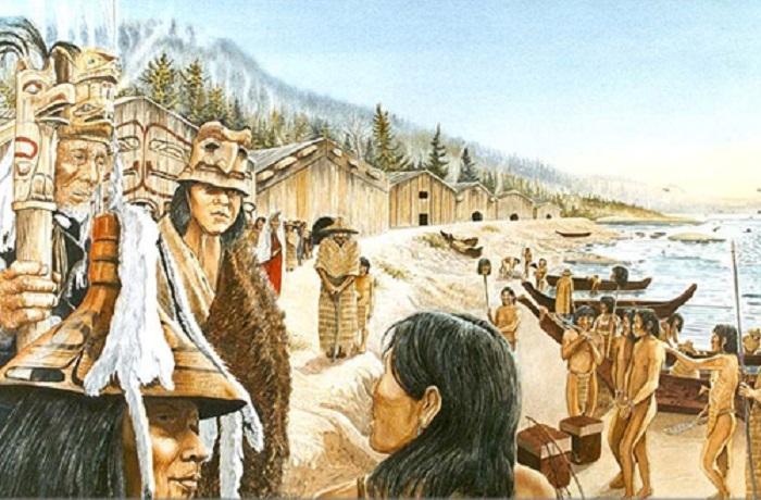 Поселение индейцев