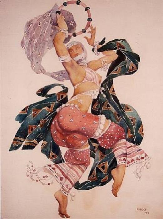 Костюм Леона Бакста для Шехерезады, 1910