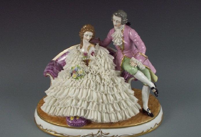 «Влюбленная пара». Volkstedt- Muller