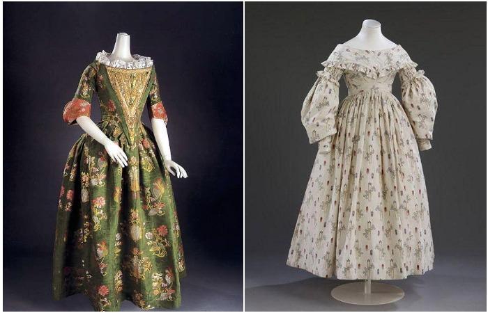 Цветные свадебные платья 1680 и 1837 годов