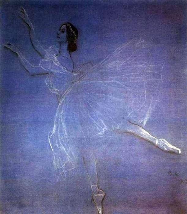 Картина В. Серова Анна Павлова