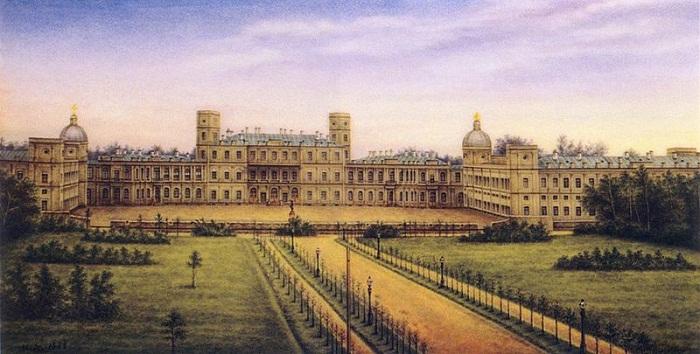Гатчинский дворец. Роспись по фарфору, вторая половина XIX века