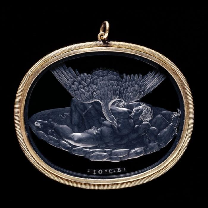 Инталия «Наказание Тита». Горный хрусталь. 16 век, автор - Джованни Бернарди (Британский музей)