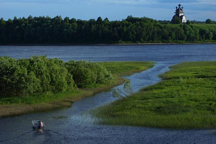 Река Онега в Архангельской области
