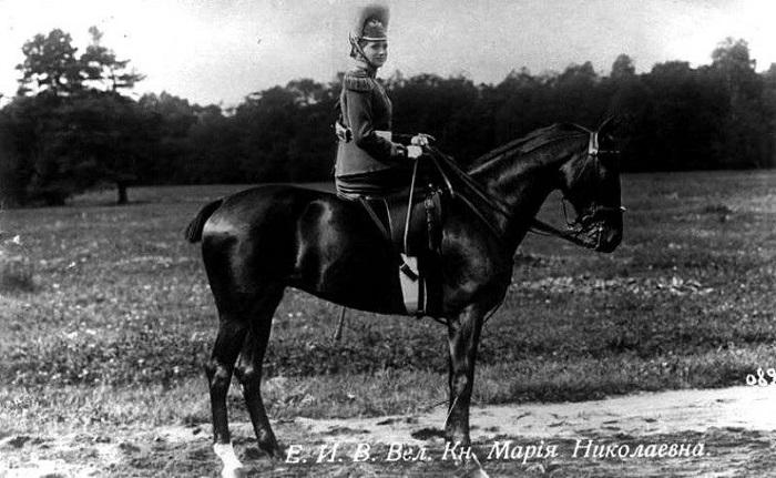 Великая княжна Мария Николаевна, третья дочь императора Николая II Шеф 9-го драгунского Казанского полка (с 1912 по 1917 гг)