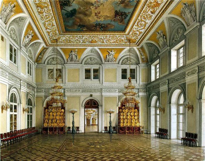Большой Николаевский зал. К.А. Ухтомский 1866 год