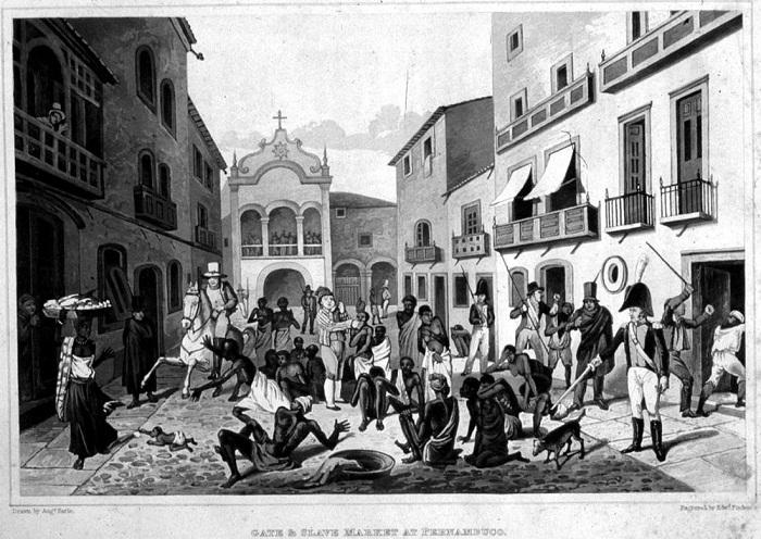 Рынок в одном из городов Бразилии (1820-е годы)