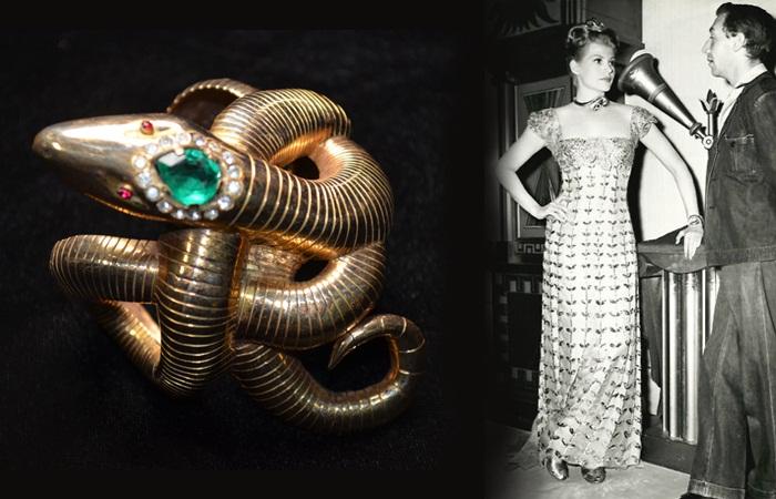 "Рита Хейворт в ожерелье и с браслетом-змейкой от Джозефа. ""Down to Earth""(1947)"