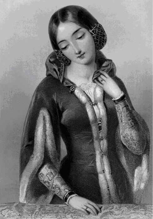 Анна Богемская - Anne of Bohemia (1366—1394), первая супруга короля Ричарда II , рис. А.Бувье