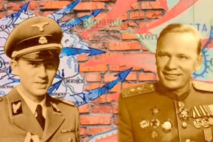 Руководитель внешней разведки СССР Павел Фитин и начальник управления внешней разведки Германии Вальтер Шелленберг