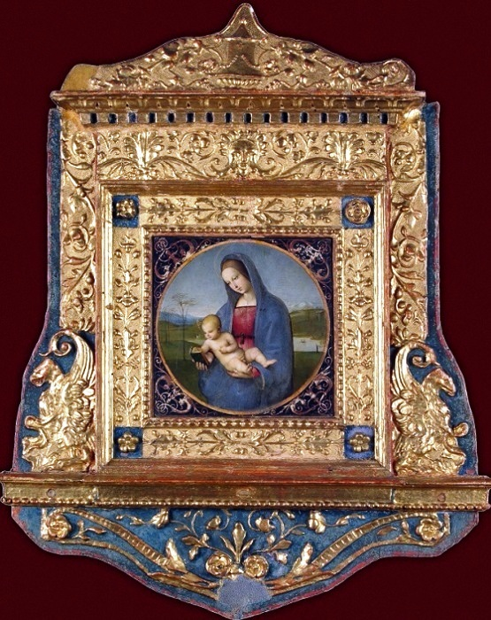 Рафаэль. Мадонна Конестабиле (с обрамлением). 1502-1504